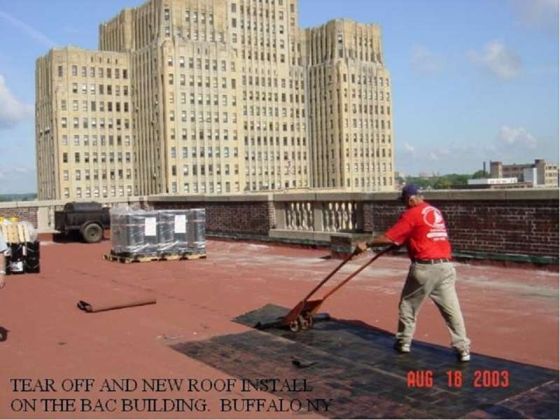 Commercial Modified Roofing in Downtown Buffalo, NY
