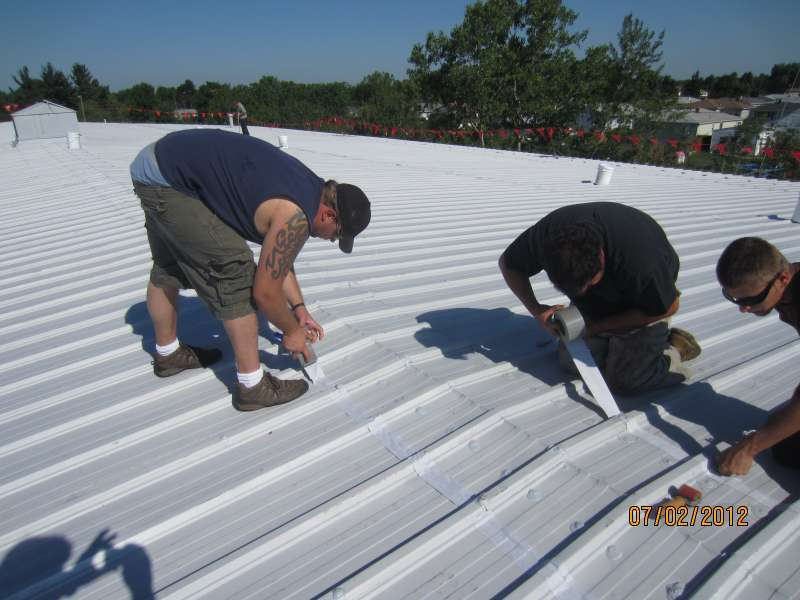 Commercial Metal Roof Seam Taping