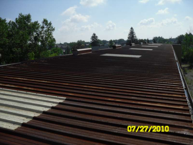 Rusted Metal Roofing Before Coating