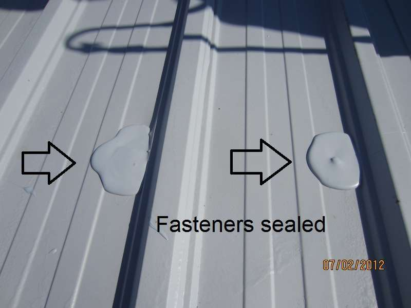 Commercial Metal Roof Deck Fasteners Sealed