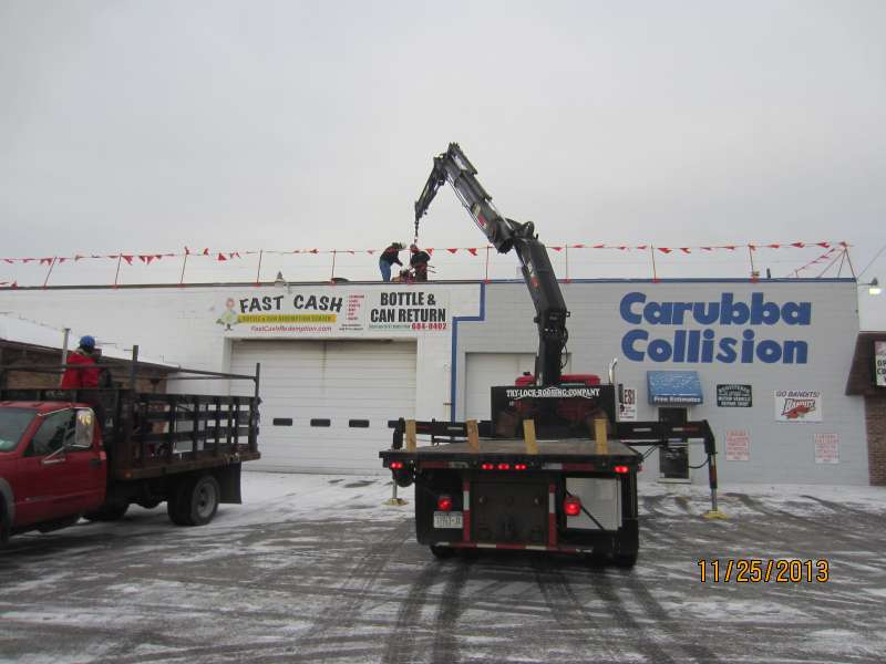 loading roof at carubba collision