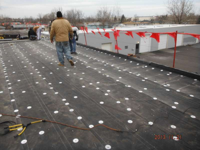 Commercial Modified Bitumen Roofing Base Sheet Attached