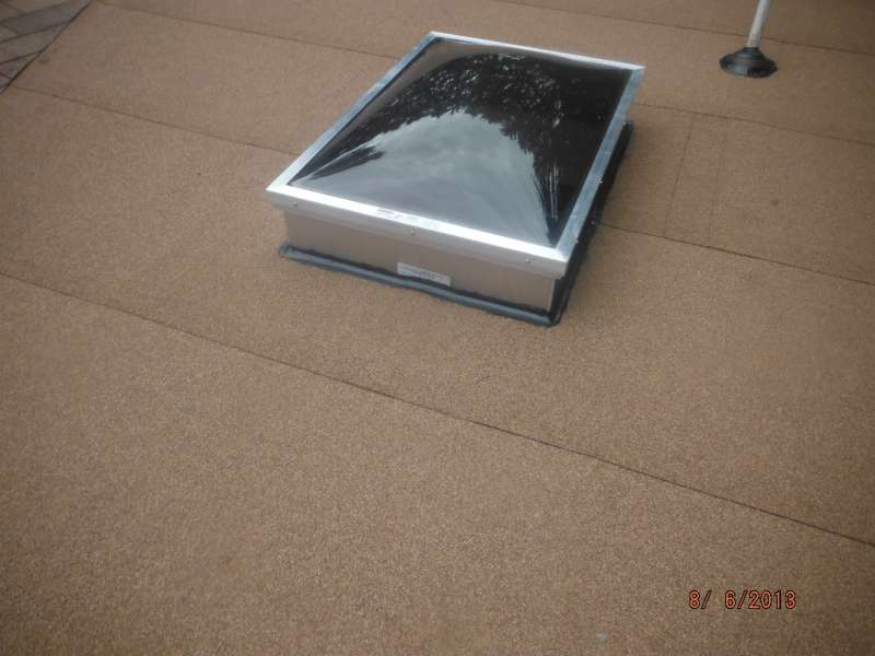 skylight on self adhered modified roof