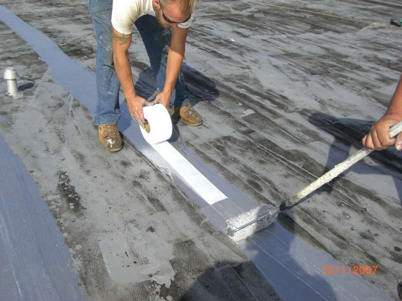 Roof coating seam tape