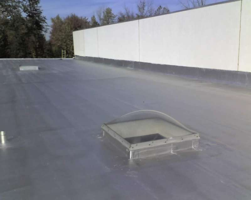 Commercial Skylight Installation On Modified Roof